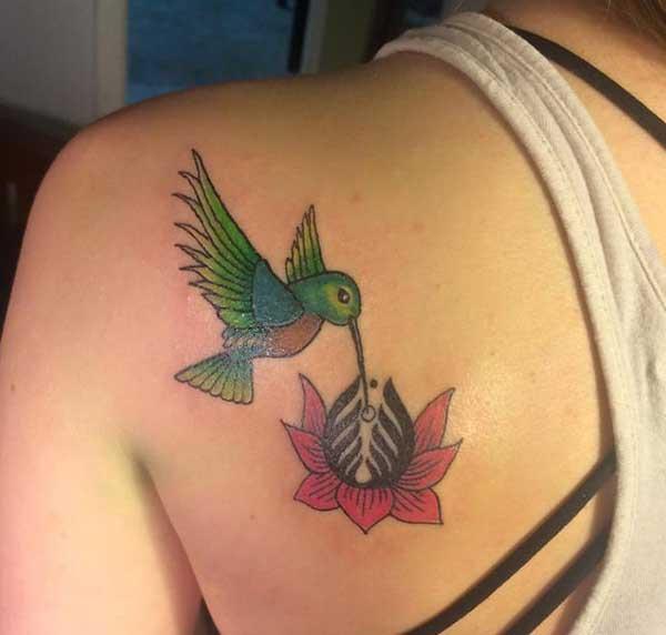 xub pwg hniav hummingbird tattoos