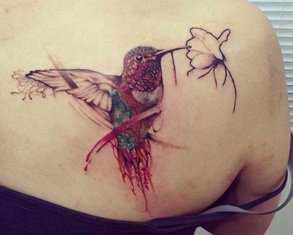 tato hummingbird yang indah