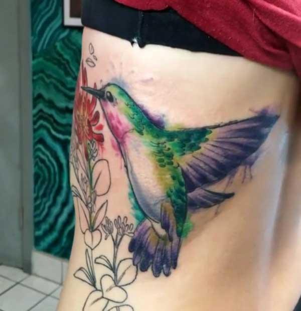 tatu hummingbird paha