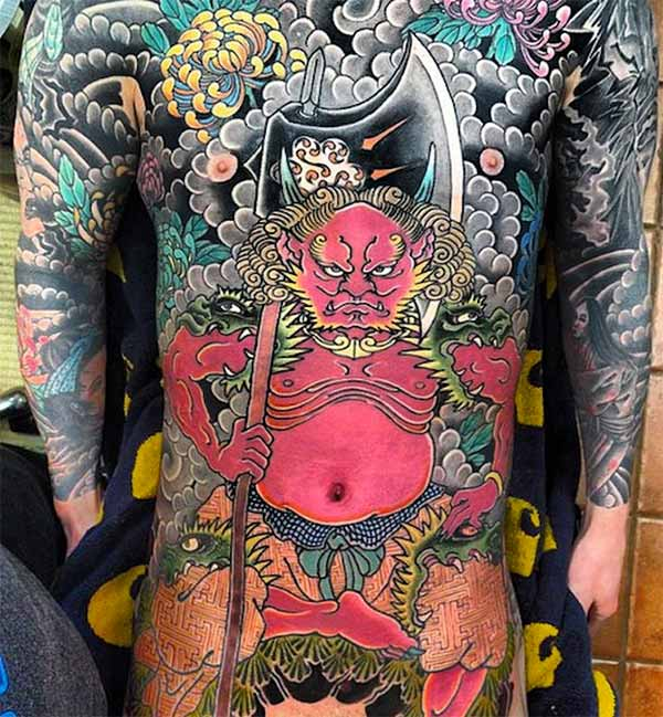 tatuagens japonesas de corpo inteiro