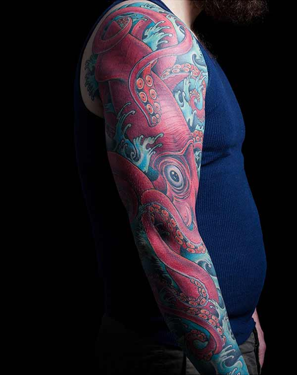 japanese octopus tattoos