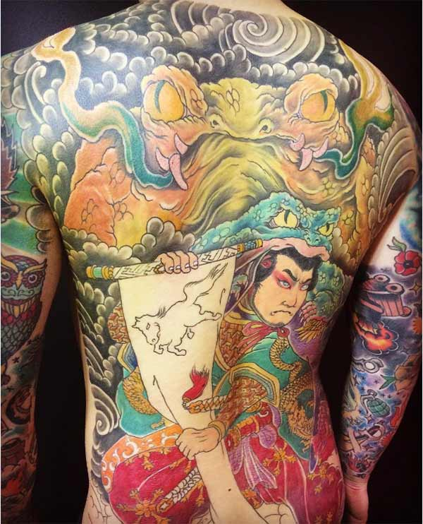 tatuagens de costas japonesas