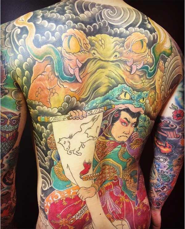 Japonè tounen tatoo
