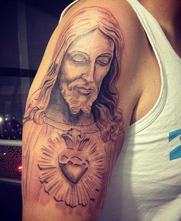 jesus face tattoos