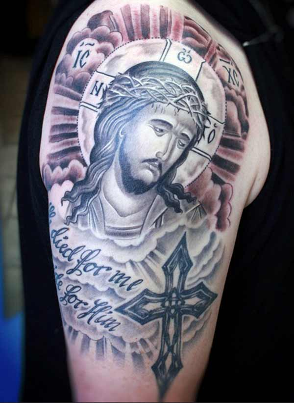 cool jesus tattoos