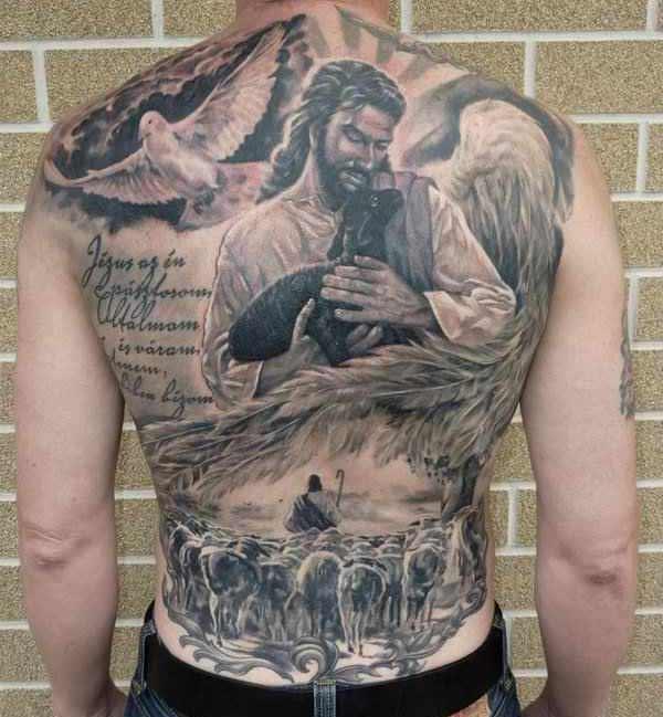 Jesus Tattooen fir Männer