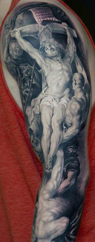 हात वर येशू tattoo