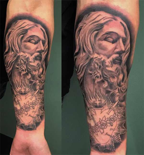 beste jesus tattoo designs
