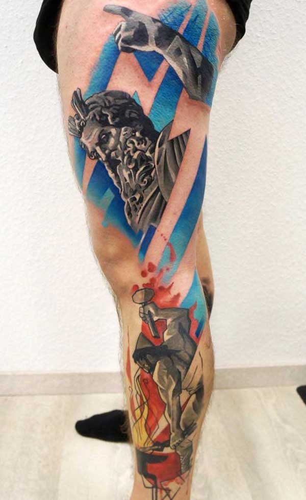 tatouages de jambe mignon