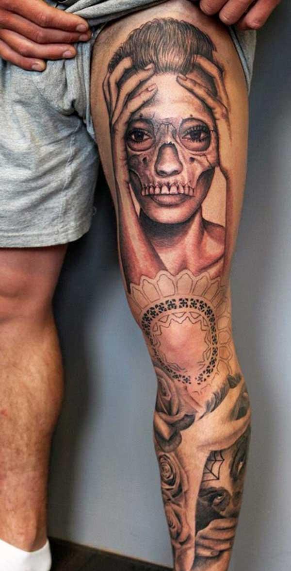 tatouages de jambe pour les hommes