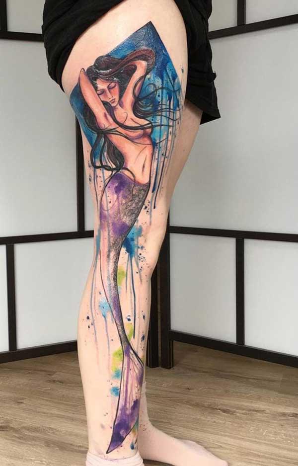 tatouages de jambe cool