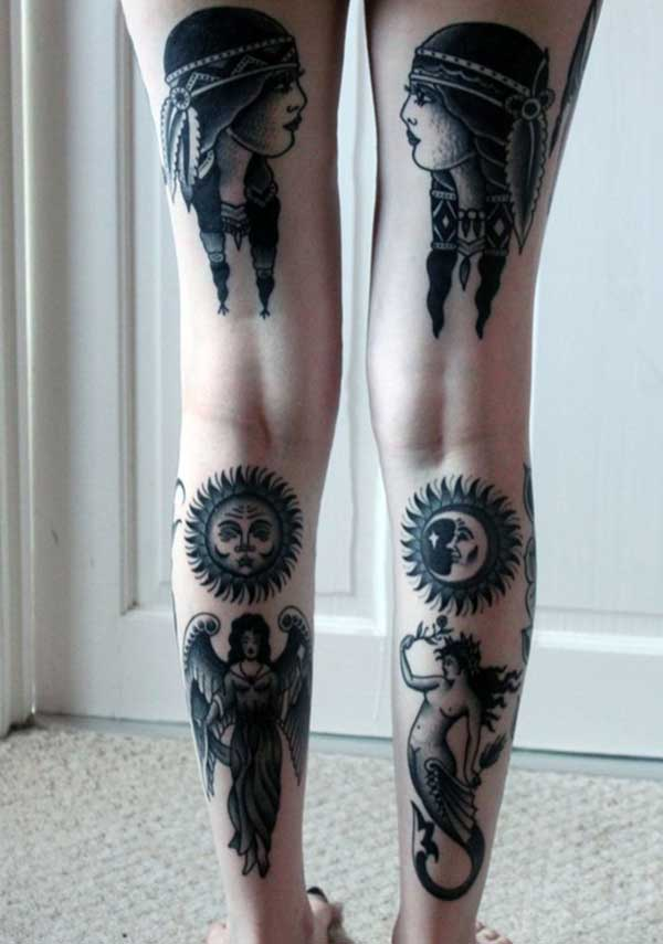 girl leg tattoos