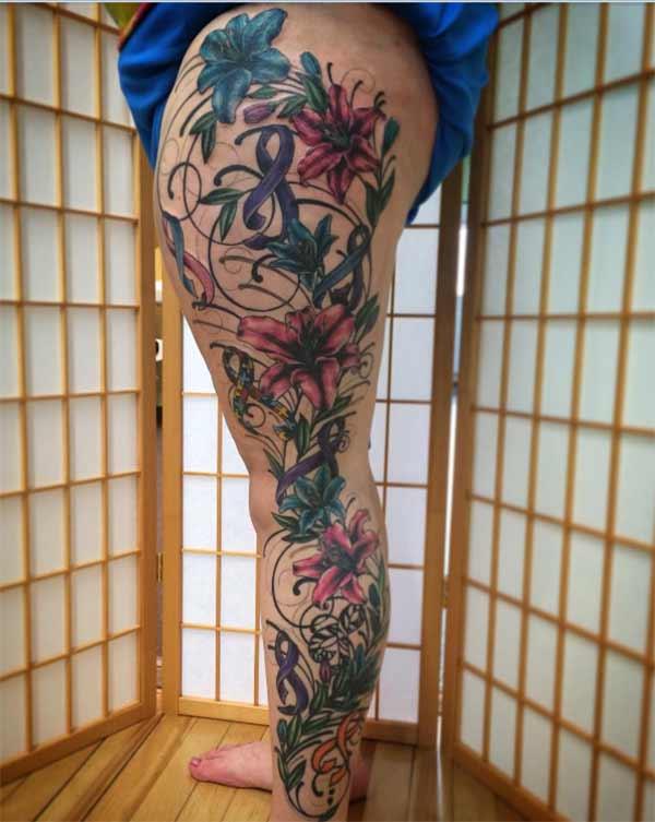 tatouages de jambes pour les femmes
