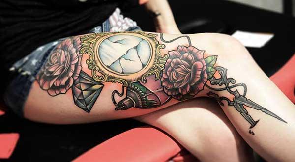 tatouages de jambe et de cuisse