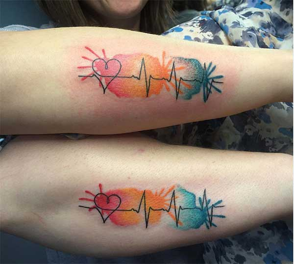 Super matching tattoos