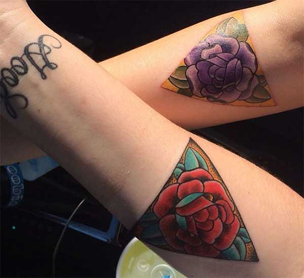 flower matching tattoos