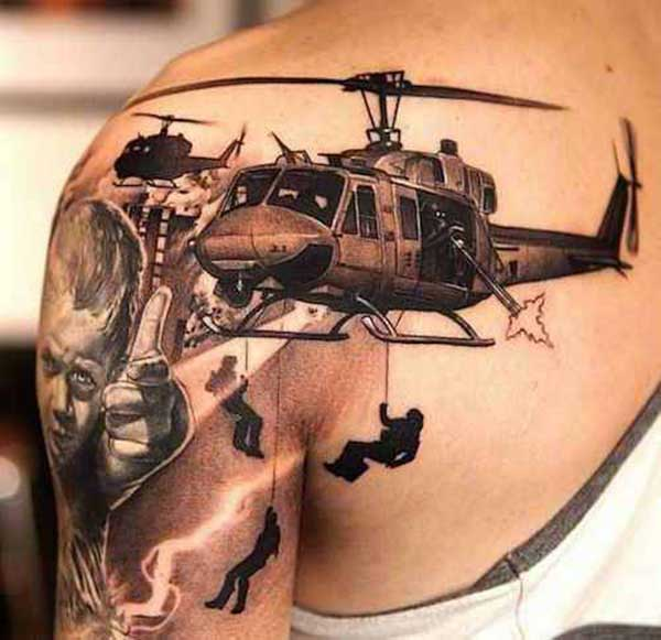 military design tattoos