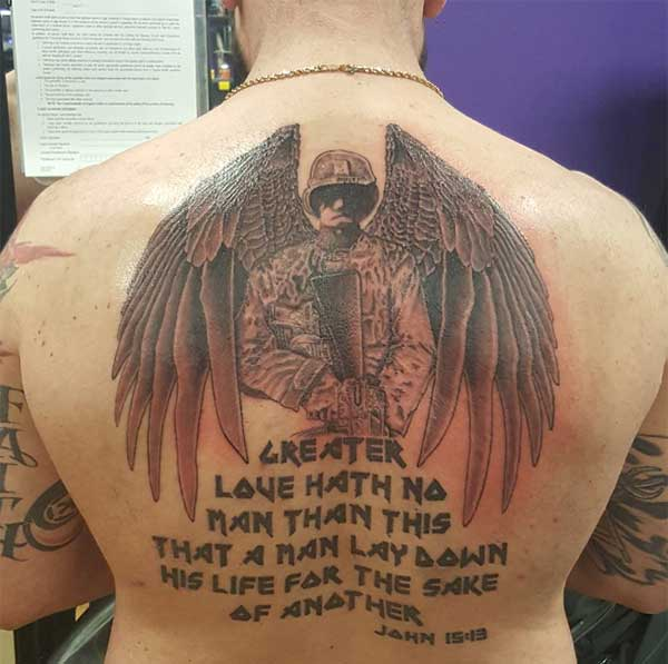back military tattoos