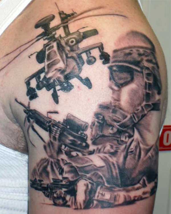 amazing tattoo military