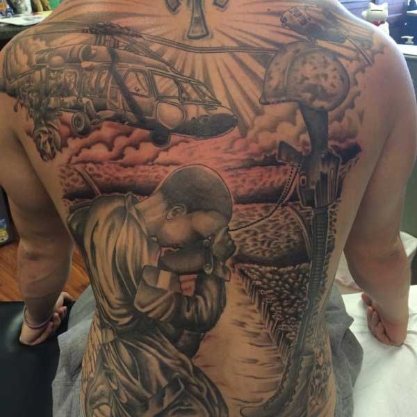 full back military tattoos