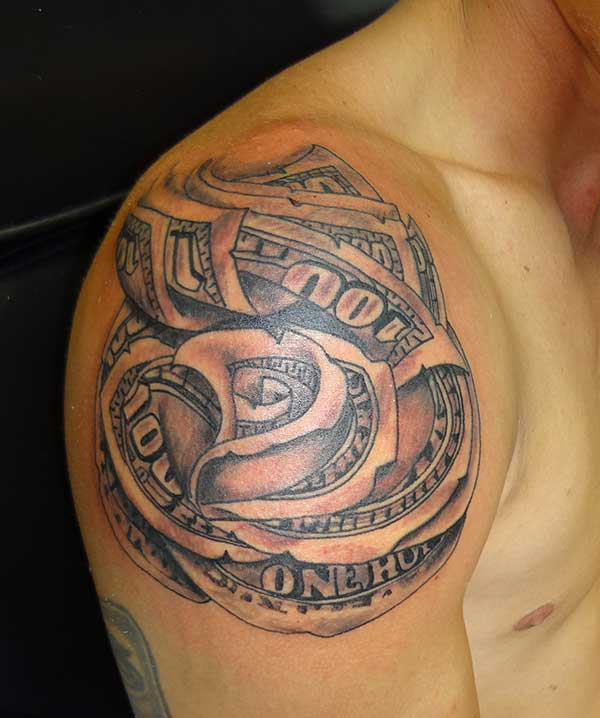 money tattoos for men