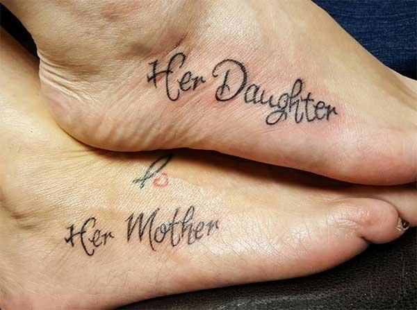 Tattoo nga mga ideya inahan nga anak nga babaye