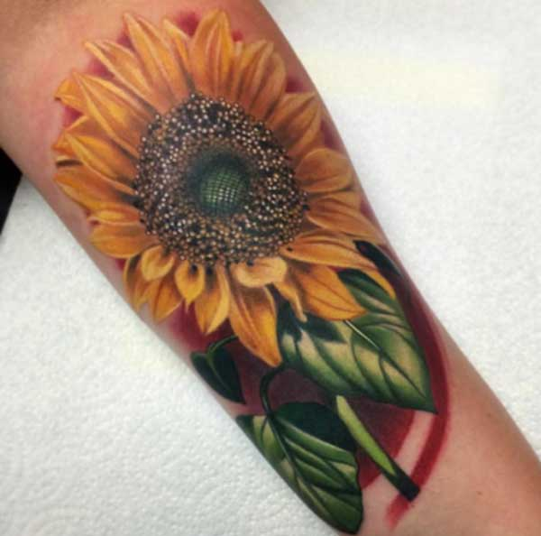 best tattoos sunflower