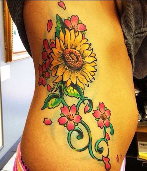 sexy sunflower tattoos