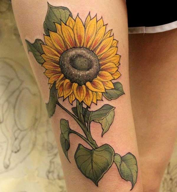 simple sunflower tattoos
