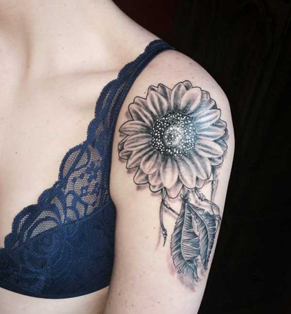 female sunflower tattoos