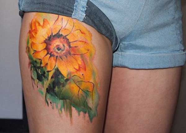 ງາມ tattoos sunflower
