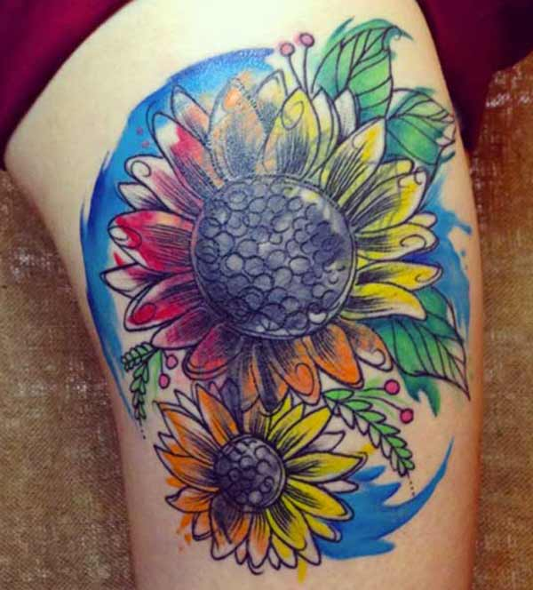stunning sunflower tattoos