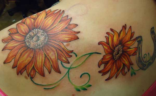 love tattoos sunflower