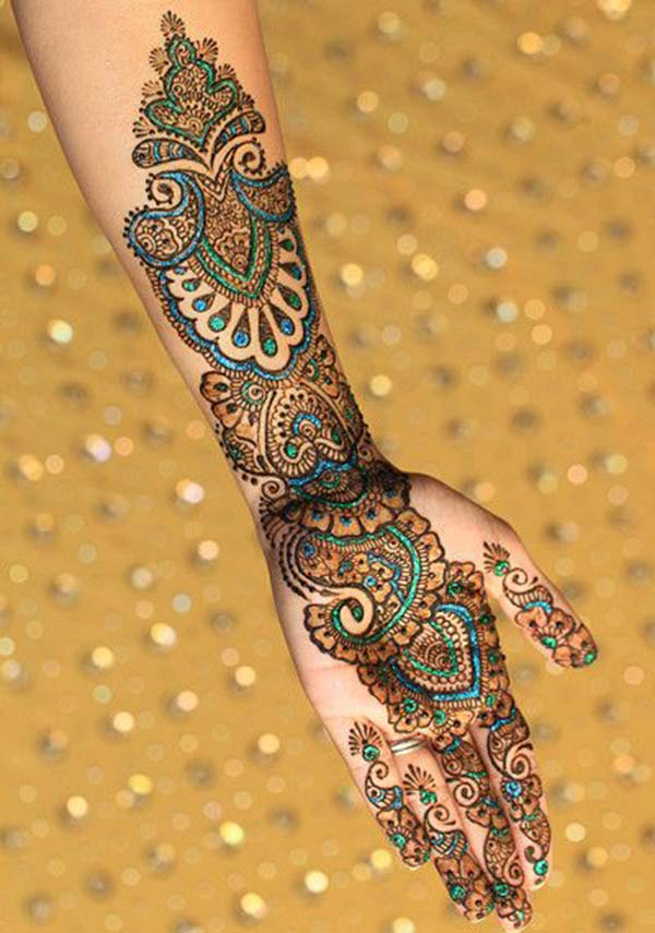 Palm Henna / Mehndi tattoo designs idea
