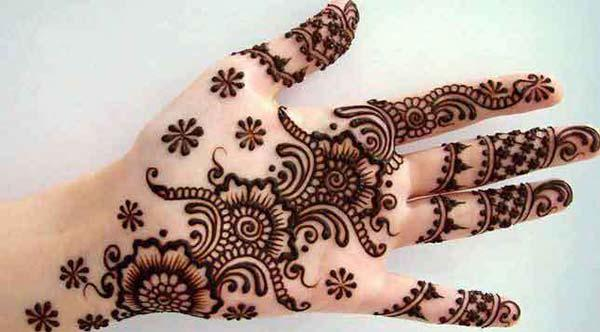 Palm Mehndi tattoo designs idea