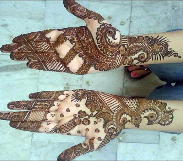 Palms Mehndi tattoo designs idea