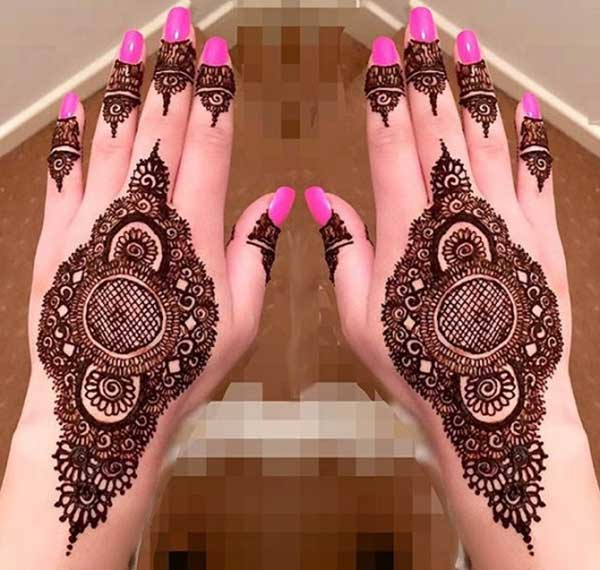 henna mehendi tattoo design for hands