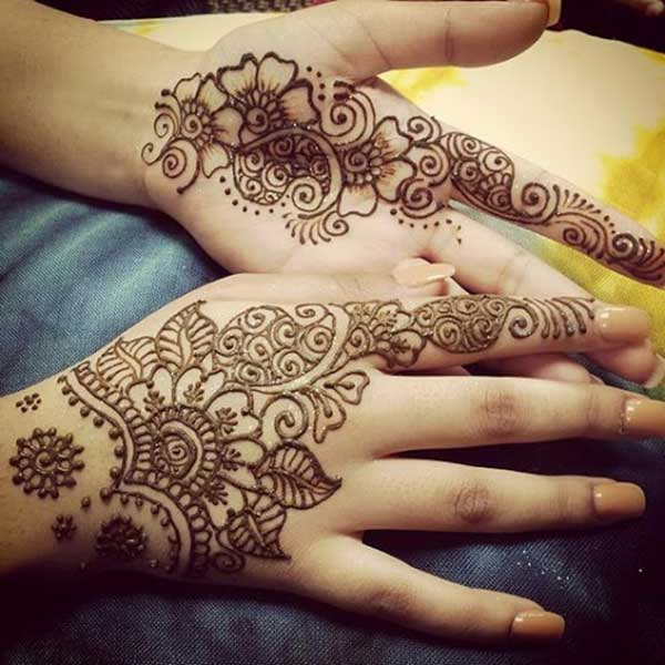 henna mehndi tattoo design for hands