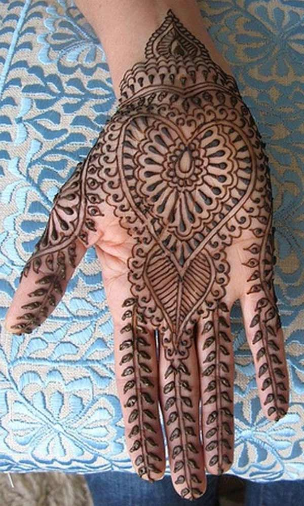 easy henna mehndi tatto design on hand