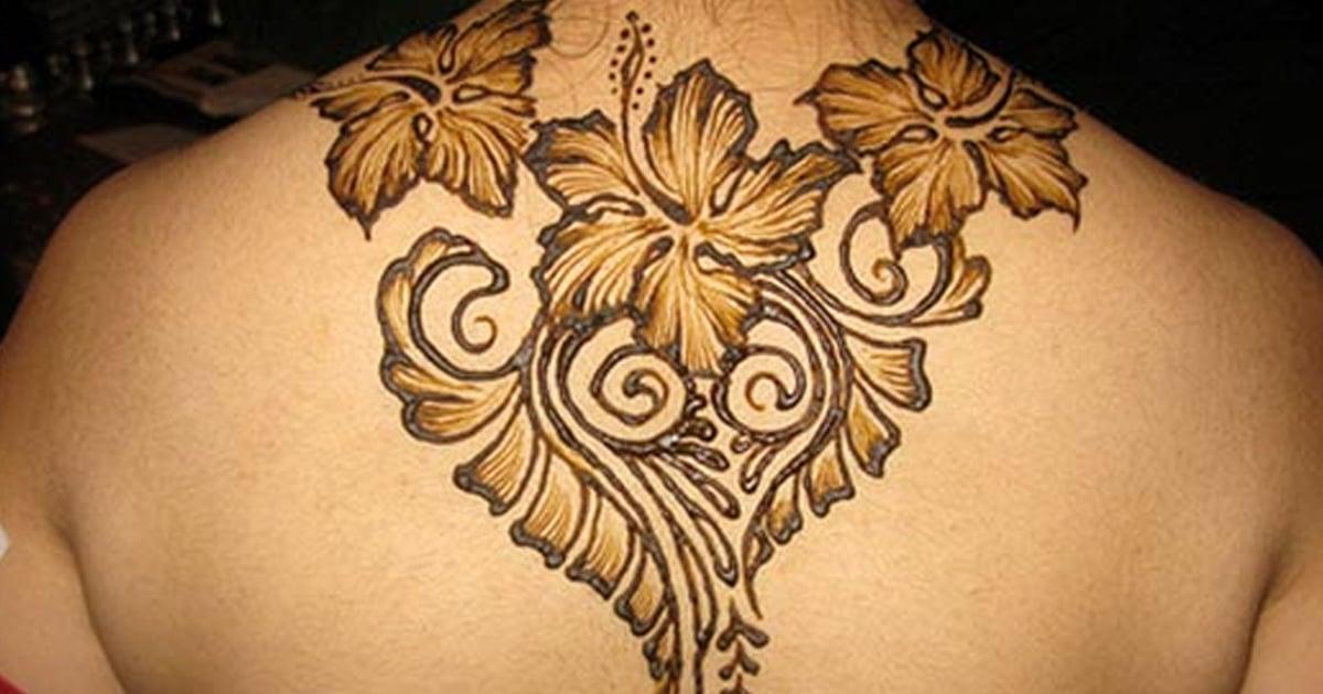 Henna Back Tattoo Drawing