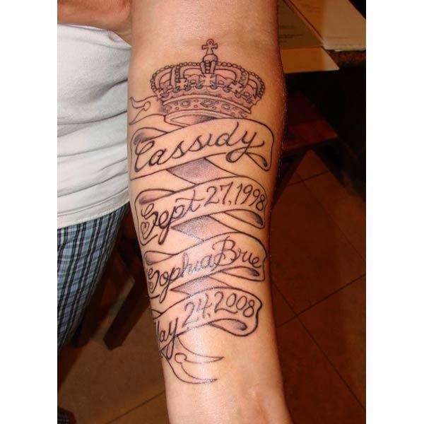Rip tattoo დიზაინის იდეა მკლავი
