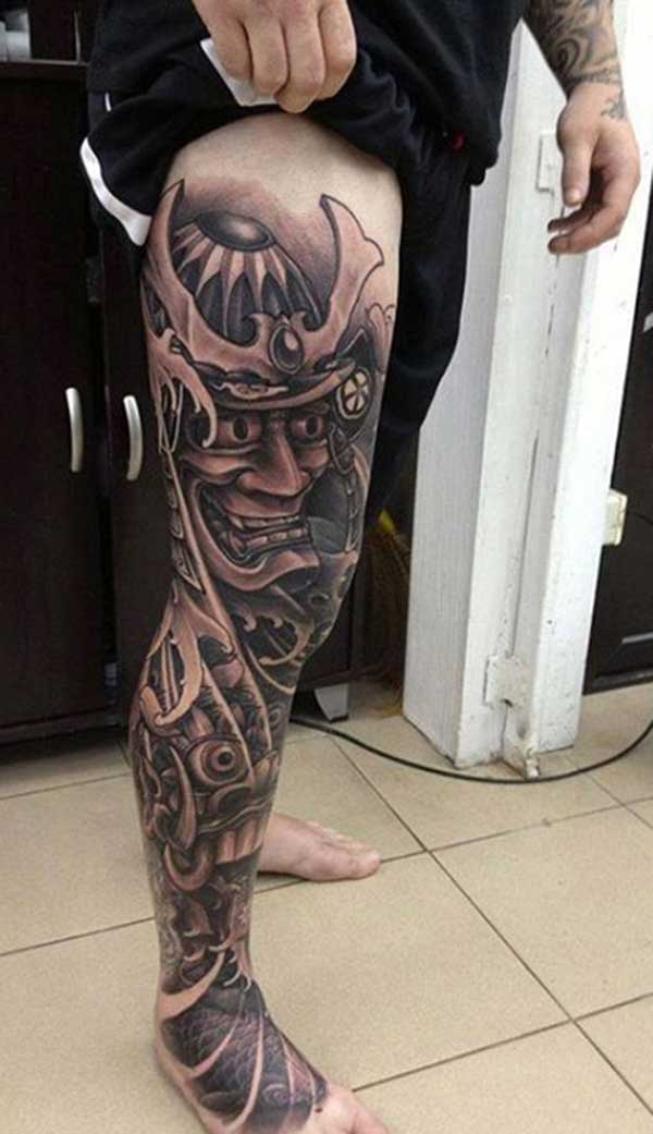legu samurai tattoos