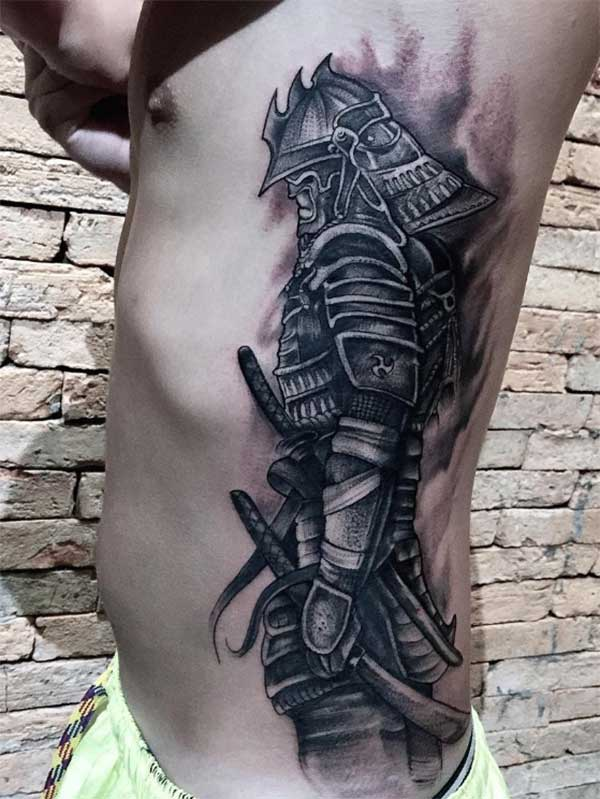 side samurai tattoos