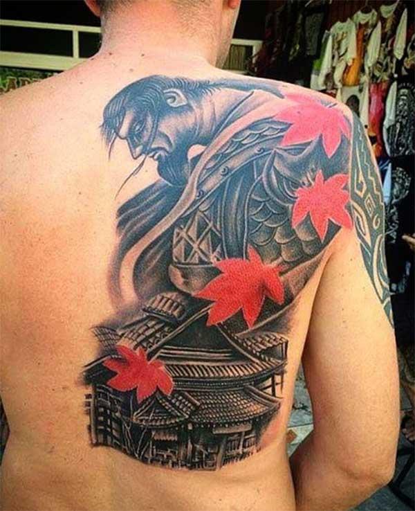 fantastiske samurai tatoveringer