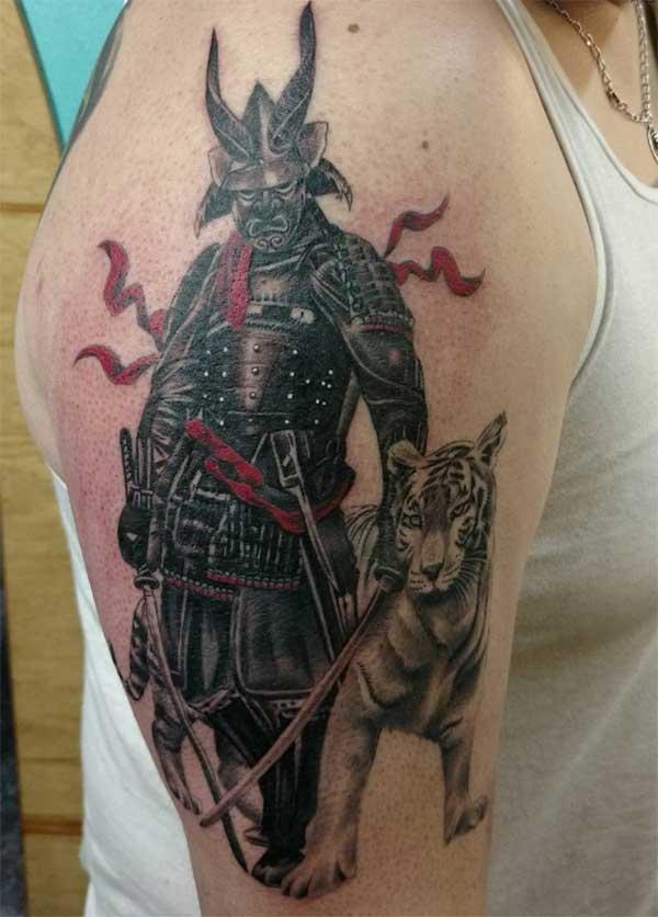 samurai tattoos mo te tangata