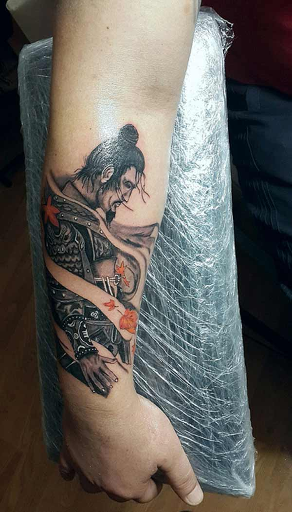 samurai design tattoos