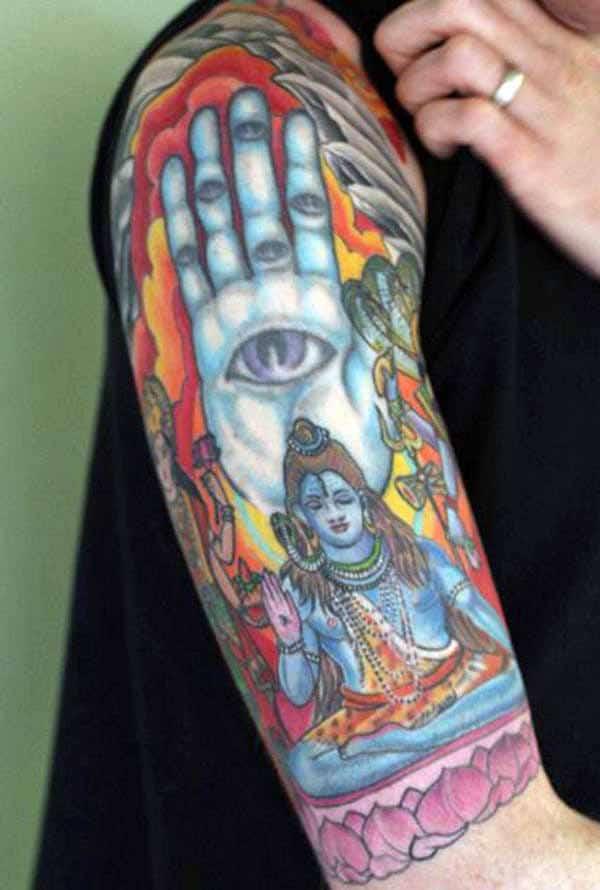 lord shiva tattoos design idea for men tattoos art ideas. Black Bedroom Furniture Sets. Home Design Ideas