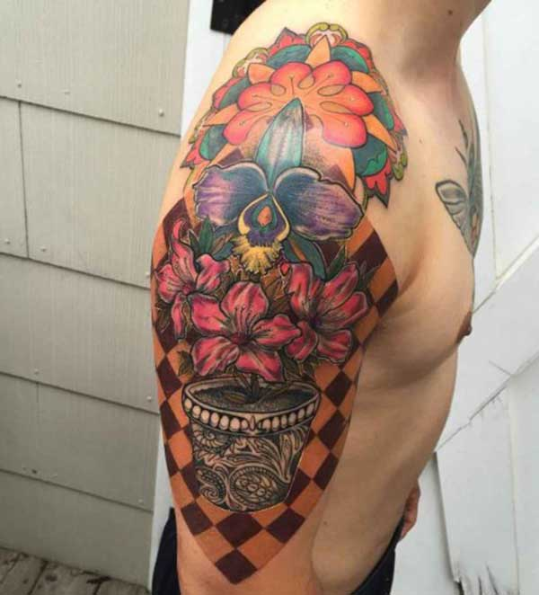 Colorful Shoulder Tattoo