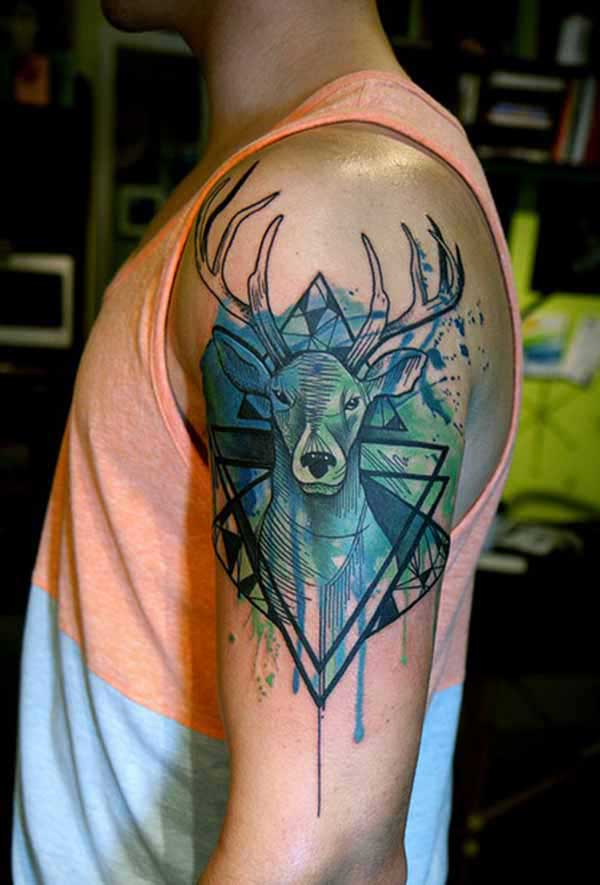 Shoulder Geometric Tattoo