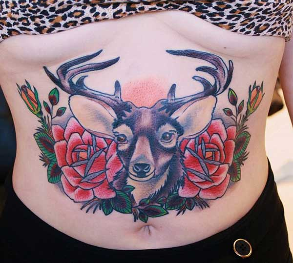 female stomach tattoos